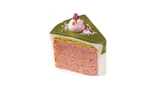 保護中: 桜と宇治抹茶のふわふわシフォンケーキ