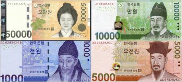 中国紙幣,韓国紙幣,新紙幣,外国紙幣,アラビア数字,デザイン,ダサい,キモい,